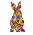 Rabbit in easter colors vector