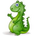 Cute green dinosaur vector