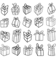 Christmas or birthday gifts coloring page vector
