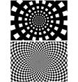 Circular checkered background vector