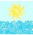 Summer background sea sun waves vector