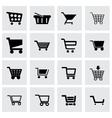 Shopping icon set vector