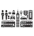 England london uk set of icons vector