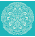 Ornamental round lace snowflake vector