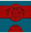 Heraldic colored background vector
