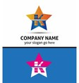 Letter j logo with hexagon icon vector