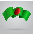 Bangladeshi waving flag vector