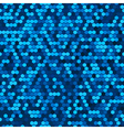 Abstract seamless blue halftone comb vector