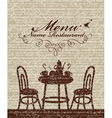 Cover for a menu vector