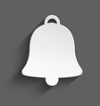 White 3d christmas bell vector