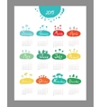Mini cute calendar 2015 seasons vector