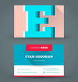 Business card design template background vector