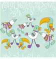 Bird and numbers vector