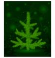 Green christmas fur-tree vector