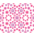 Floral seamless pattern in pink colors vector