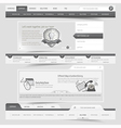 Web site template navigation elements vector