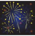 Starry fireworks vector