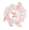 Floral banner doodle vector