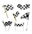 Checkered flags set vector