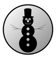 Snowman button vector