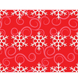 Row of snowflakes on red vector