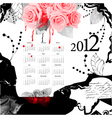 Template for calendar 2012 vector