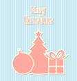 Retro style christmas decoration vector