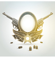 Revolver gun patron weapon sheriff element emblem vector