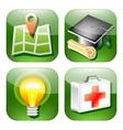 Green sign icon web vector