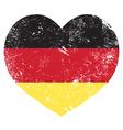 Germany heart shaped retro flag vector