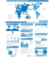 Infographic demographics population 2 vector