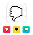 Finger down pixel hand cursor icon vector