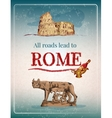 Rome retro poster vector