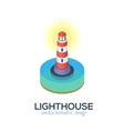 Isolated isometric lighthouse icon vector