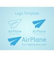 Airplane - logo concept aircraft vector