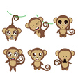 Funny monkeys vector