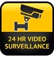 Video surveillance sign cctv label vector