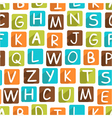Seamless pattern with funny alphabet vector