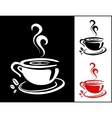 Cup of coffee background vector