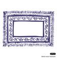 Carpet frame vector