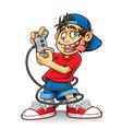 Crazy game boy vector