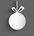 White 3d christmas ball vector