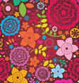 Floral ornamental greeting card vector