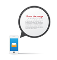 Smartphone and bubble talk message vector