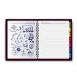 Creative notebook idea vector