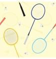Badminton seamless pattern vector