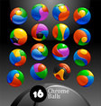 Chrome balls logo elements vector