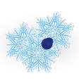 Snowflake pinned vector