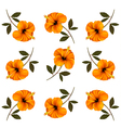 Pattern of beautiful yellow flowers vector