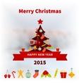 Stylized christmas tree vector
